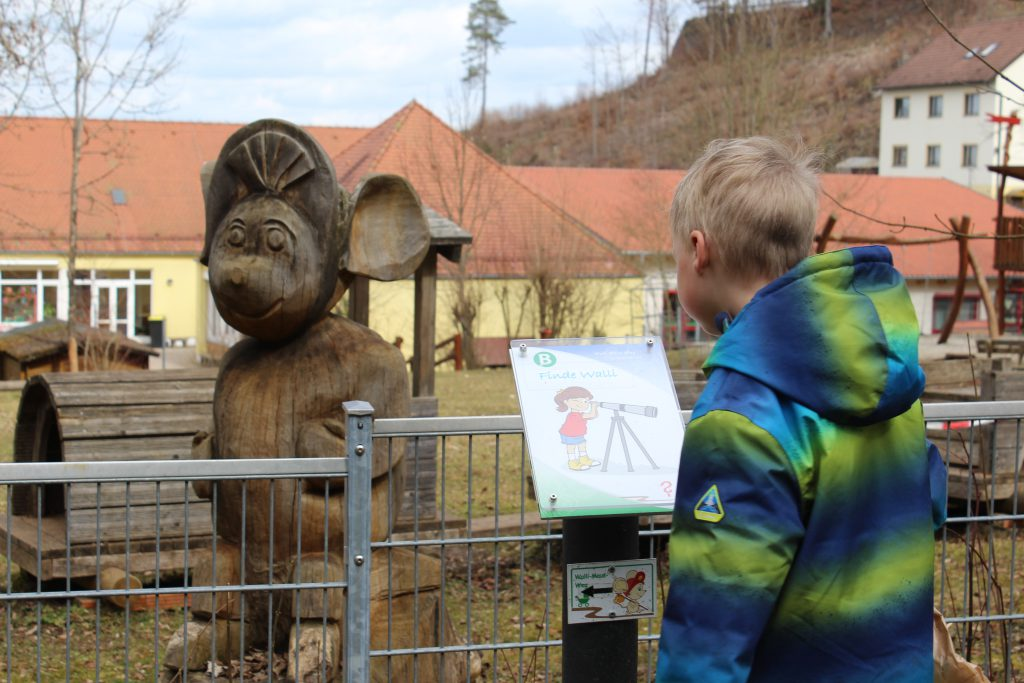 Walli-Maus-Wanderweg, Erlebniswanderung für Kinder in Gößweinstein, Franken mit Kindern, Ausflugstipps für Familien